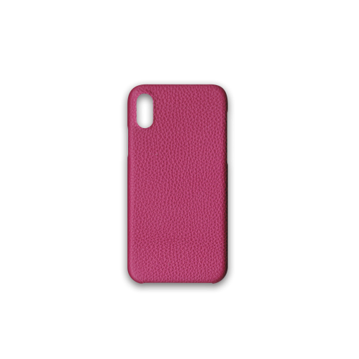 iPhone X & XS Case<br>German Shrunken Calf<br>Indian Pink