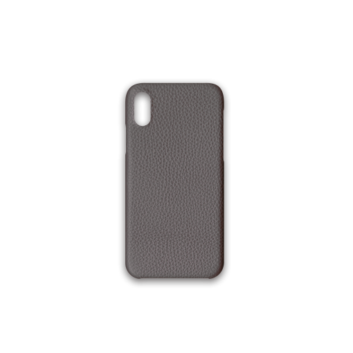 iPhone X & XS Case<br>German Shrunken Calf<br>Titanium