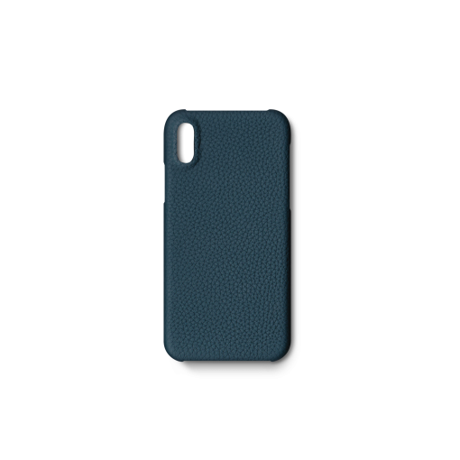 iPhone X & XS Case<br>German Shrunken Calf<br>Ink Blue