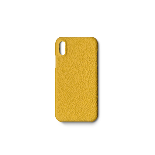 iPhone X & XS Case<br>German Shrunken Calf<br>Yellow