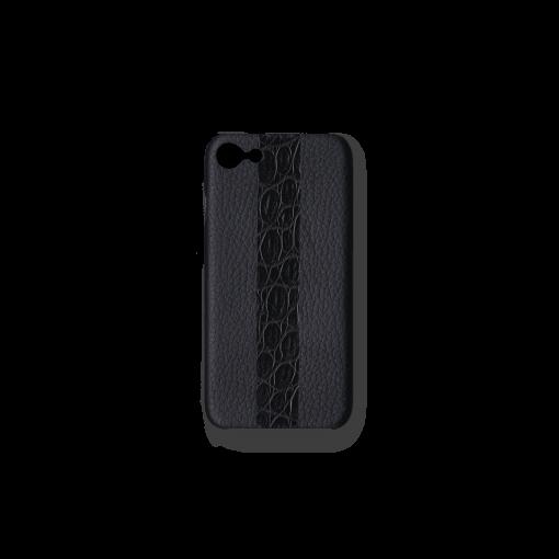 iPhone 7, 8 & SE Case/ST<br>French Crisp Calf×Mississippi Alligator<br>Black×Black