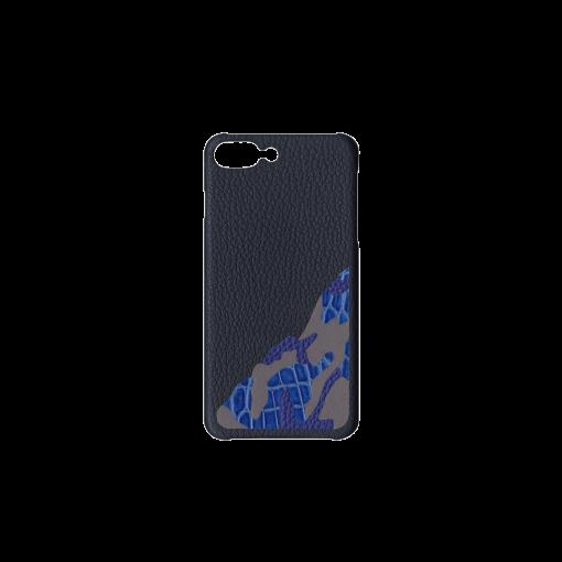iPhone 7Plus&8Plus Case/SM<br>French Crisp Calf×Mississippi Alligator<br>Midnight Blue