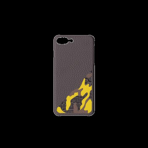 iPhone 7Plus&8Plus Case/SM<br>French Crisp Calf×Mississippi Alligator<br>Titanium