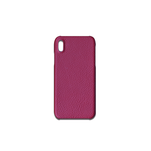 iPhone XS Max Case<br>German Shrunken Calf<br>Indian Pink