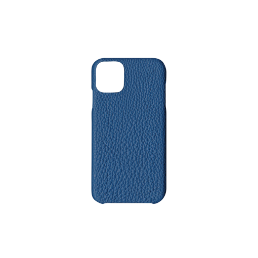 iPhone 11 Case<br>German Shrunken Calf<br>Topaz Blue