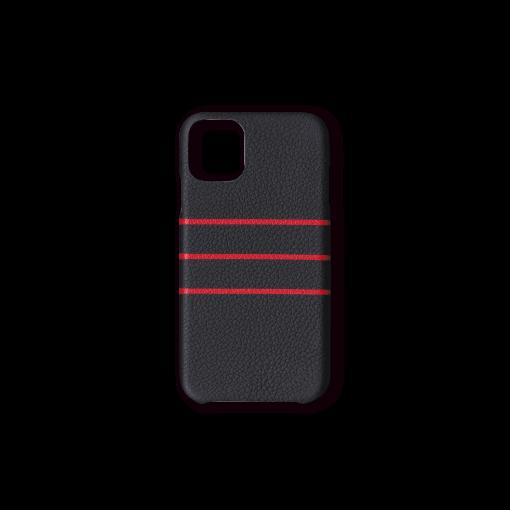 iPhone 11 Case/BD<br>French Crisp Calf×Goat<br>Black×Red