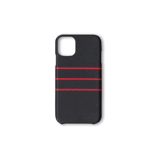 iPhone 11 Pro Max Case/BD<br>French Crisp Calf×Goat<br>Black×Red