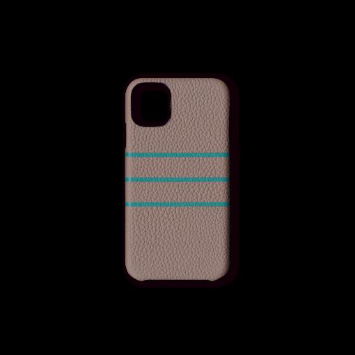 iPhone 11 Pro Max Case/BD<br>German Shrunken Calf×Goat<br>Tortora×Turquoise