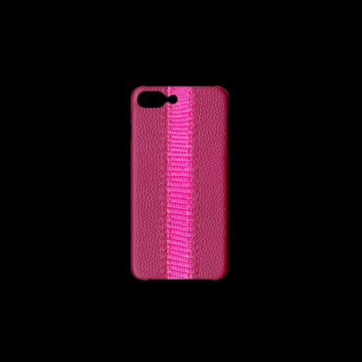 iPhone 7Plus&8Plus Case/SS<br>German Shrunken Calf×Lizard<br>Indian Pink×Pink