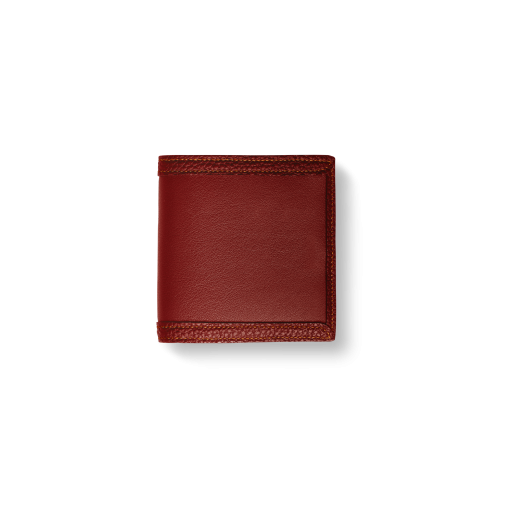 Compact Wallet with Coin Case2/CFR<br>Soft Calf (×Shrink Calf Frame)<br>Red
