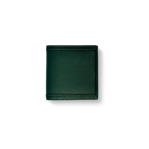 Compact Wallet with Coin Case2/CFR<br>Soft Calf (×Shrink Calf Frame)<br>Green