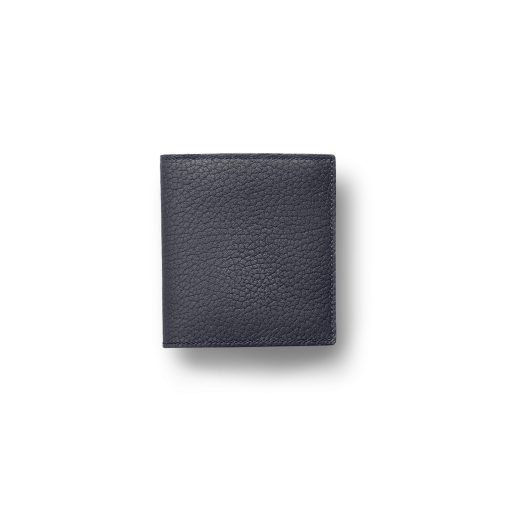 Compact Wallet with Coin Case2<br>German Shrunken Calf×Lamb<br>Midnight Blue×Midnight Blue
