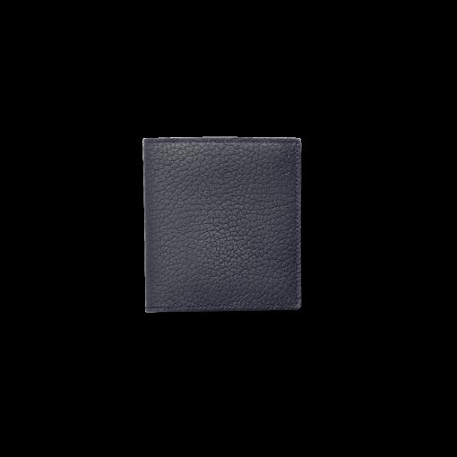 Compact Wallet w/ Coin Case<br>German Shrunken Calf×Lamb<br>Midnight Blue×Midnight Blue