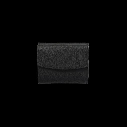 WX Wallet 2<br>German Shrunken Calf×Lamb<br>Black×Azure