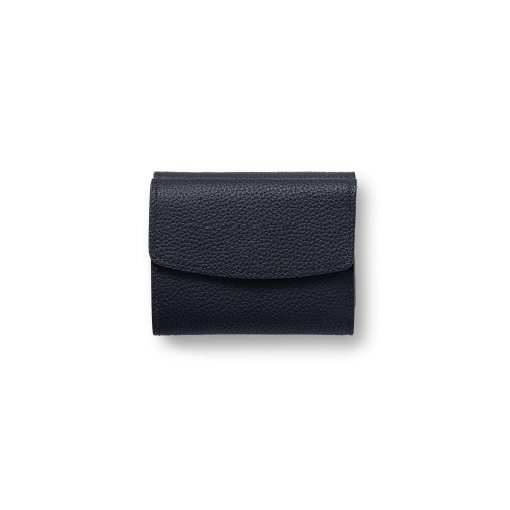 WX Wallet 2<br>German Shrunken Calf×Lamb<br>Midnight Blue×Midnight Blue