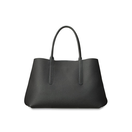 Basket Briefcase<br>German Shrunken Calf×Lamb<br>Black×Azure