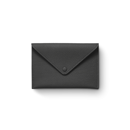 Smart Envelope(M)<br>German Shrunken Calf×Lamb<br>Black×Azure