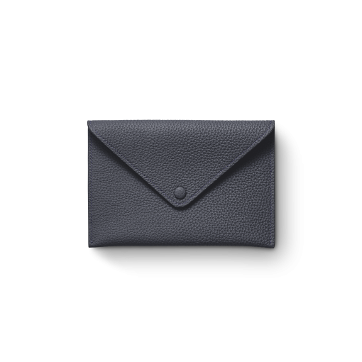 Smart Envelope(M)<br>German Shrunken Calf×Lamb<br>Midnight Blue×Midnight Blue