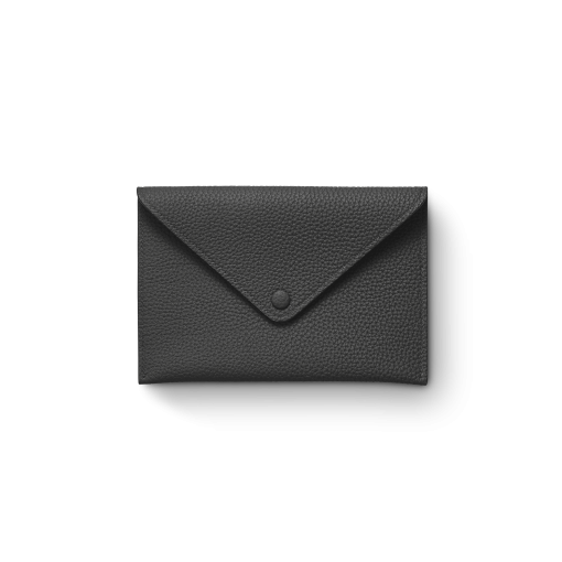 Smart Envelope(M)<br>German Shrunken Calf×Lamb<br>Black×New Grey