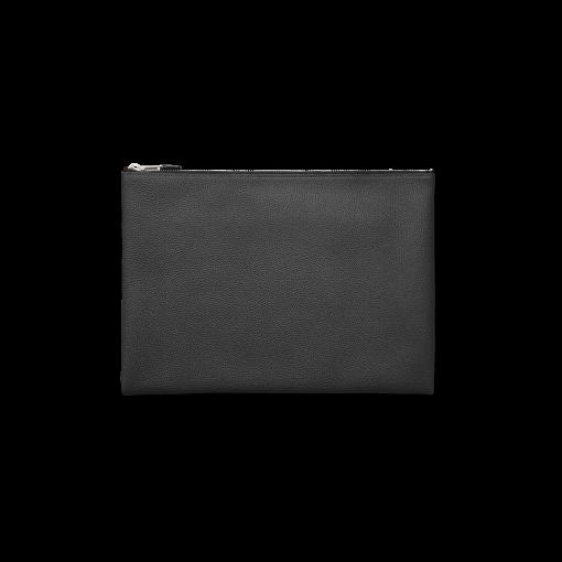 WX Clutch(L)<br>German Shrunken Calf×Lamb<br>Black×New Grey