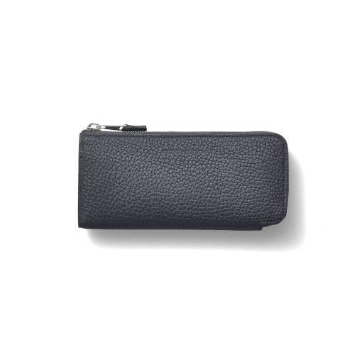 N2_TT6 Wallet<br>German Shrunken Calf×Lamb<br>Midnight Blue×Midnight Blue