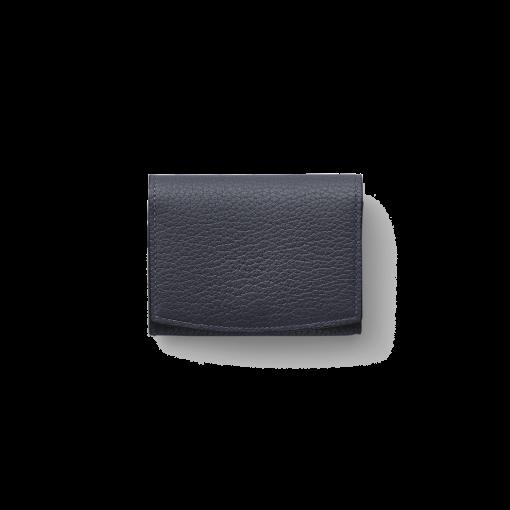 New Credit Card Coin Case2<br>German Shrunken Calf×Lamb<br>Midnight Blue×Midnight Blue