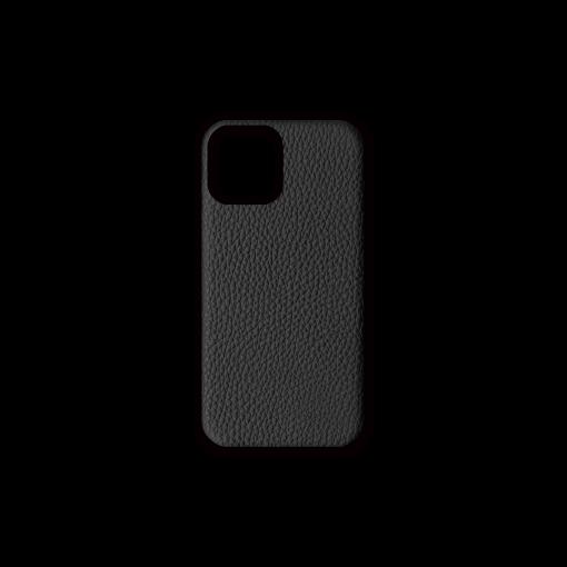 iPhone 12 & 12 Pro Case<br>German Shrunken Calf<br>Black