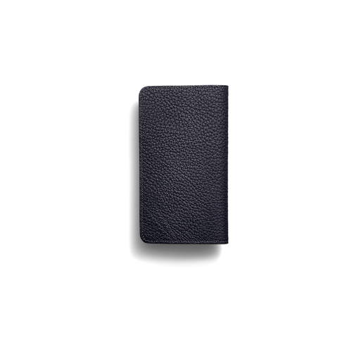 iPhone 12 & 12 Pro Combo Case<br>German Shrunken Calf×Lamb <br>Midnight Blue×Midnight Blue