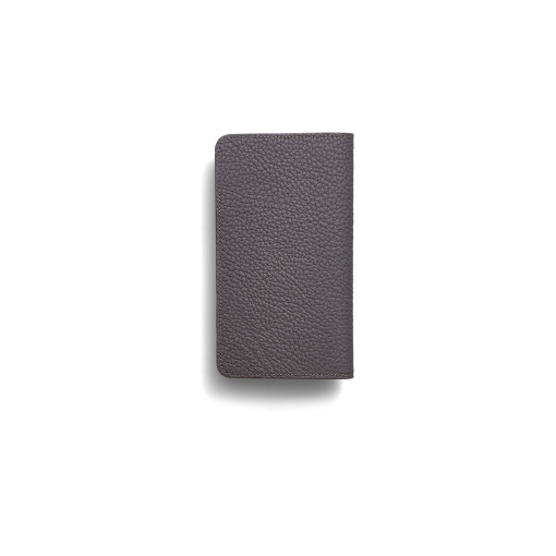 iPhone 12 & 12 Pro Combo Case<br>German Shrunken Calf×Lamb <br>Titanium×Orange