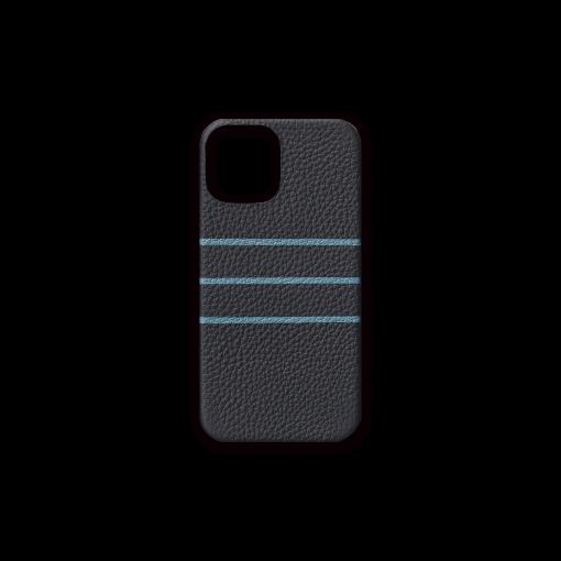 iPhone 12 & 12 Pro Case/BD<br>German Shrunken Calf×Goat<br>Midnight Blue×Azure