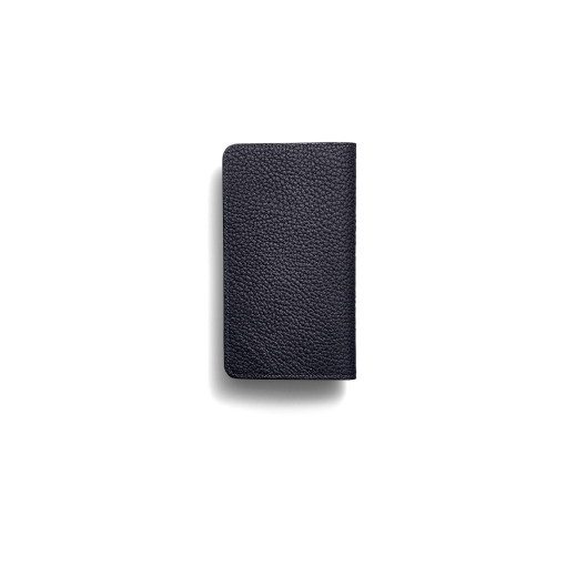 iPhone 12 mini Combo Case<br>German Shrunken Calf×Lamb <br>Midnight Blue×Midnight Blue