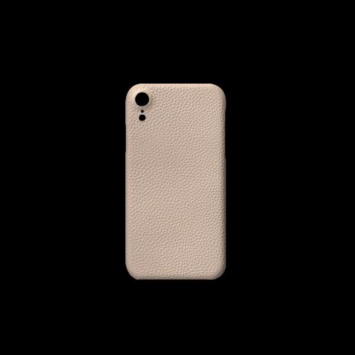 iPhone XR Case<br>German Shrunken Calf<br>Platinum