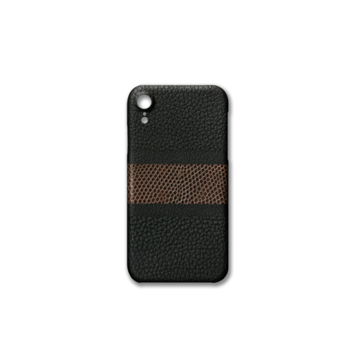 iPhone XR Case/RC3<br>French Crisp Calf×Lizard<br>Black×Earth
