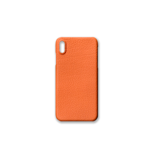 iPhone XS Max Case<br>French Crisp Calf<br>Orange