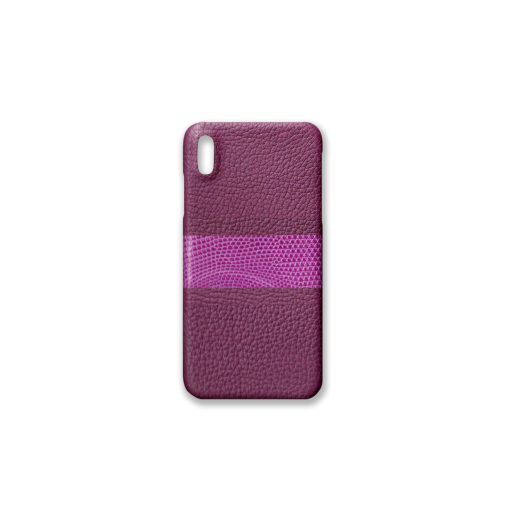 iPhone XS Max Case/RC3<br>French Crisp Calf×Lizard<br>Violet×Violet