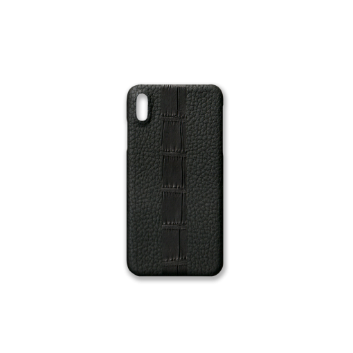iPhone XS Max Case/ST<br>French Crisp Calf×Mississippi Alligator<br>Black×Black