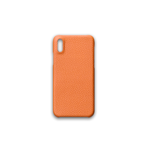 iPhone X & XS Case<br>German Shrunken Calf<br>Orange