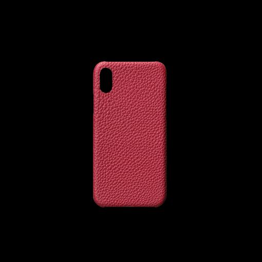 iPhone X Case (XS非対応)<br>German Shrunken Calf<br>Indian Pink