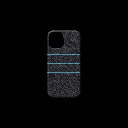 iPhone 12 mini Case/BD<br>German Shrunken Calf×Goat<br>Midnight Blue×Azure