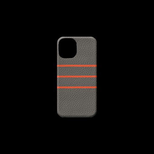 iPhone 12 mini Case/BD<br>German Shrunken Calf×Goat<br>Titanium×Orange
