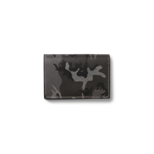Business Card T Pouch Magnet<br>Camouflage Goat×Lamb<br>Grey×Yellow
