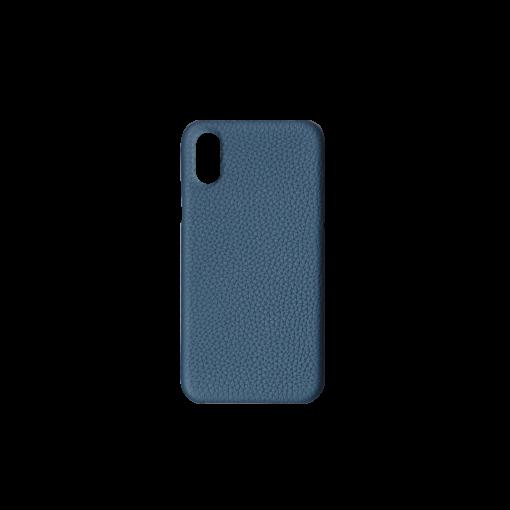 iPhone X & XS Case<br>German Shrunken Calf<br>Topaz Blue