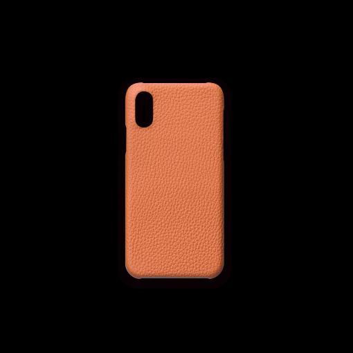 iPhone X & XS Case<br>French Crisp Calf<br>Orange
