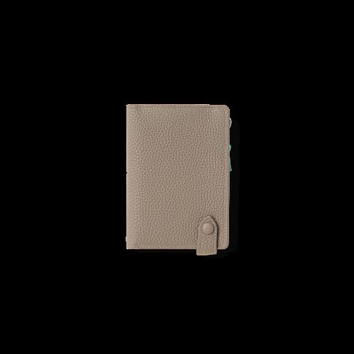 Smart Wallet 2<br>German Shrunken Calf×Lamb<br>Tortora×Turquoise