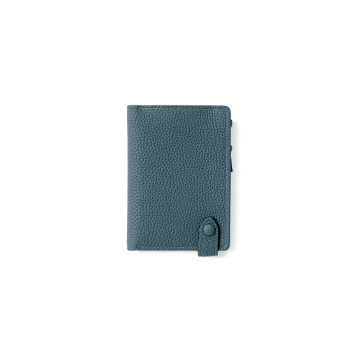 Smart Wallet<br>German Shrunken Calf×Soft Calf<br>Ink Blue×White/Indigo