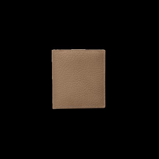 Compact Wallet w/ Coin Case<br>German Shrunken Calf×Soft Calf<br>Tortora×Yellow/Teak