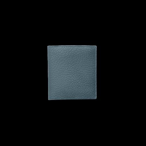 Compact Wallet w/ Coin Case<br>German Shrunken Calf×Soft Calf<br>Ink Blue×White/Indigo