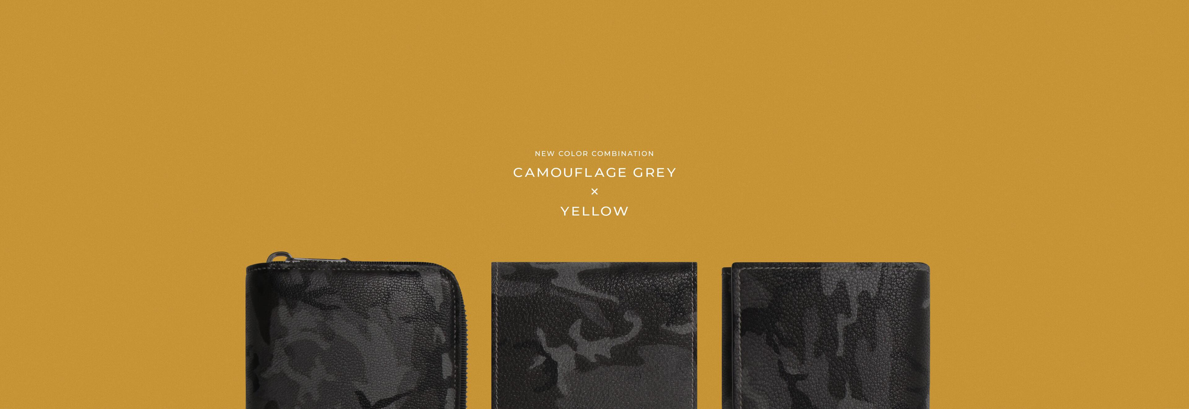 CAMOUFLAGE GREY x YELLOW