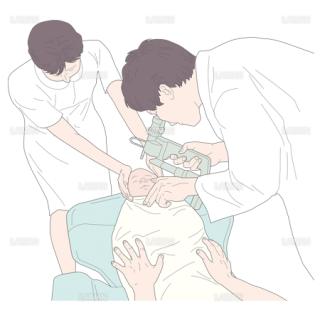 幼児の場合の介助 (Sサイズ)