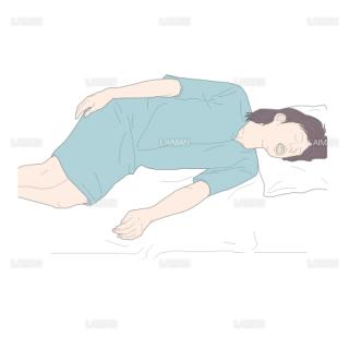 上部消化管内視鏡時の患者の体位 (Sサイズ)